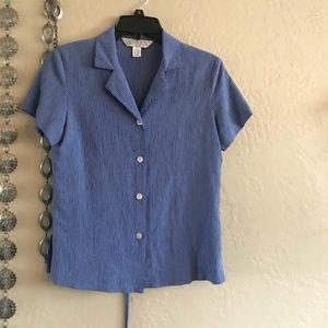 Vintage blue button up